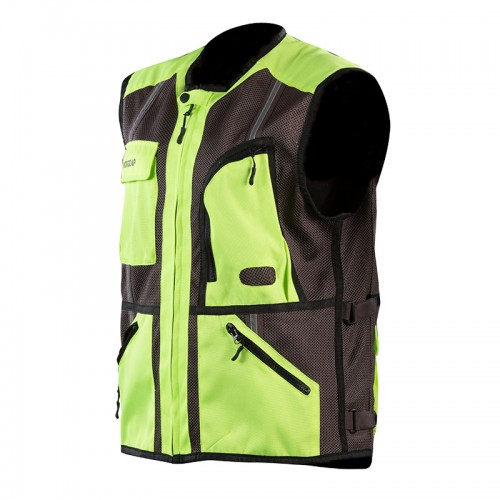 SAFETY VEST grey/fluo yellow NORDCAP