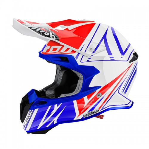 HELMET TERMINATOR 2.1 CUT WHITE-BLUE-RED AIROH