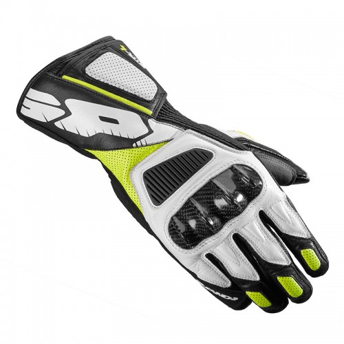 STR-4 VENT LEATHER GLOVES black/fluo - SPIDI