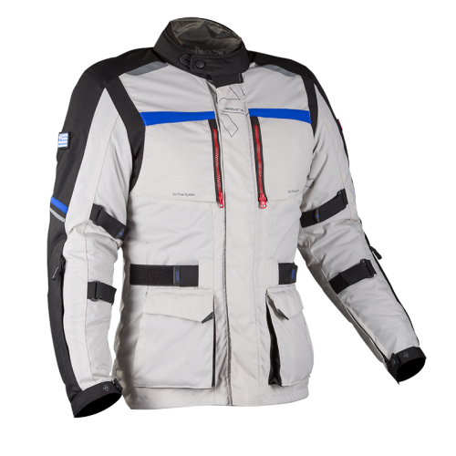 Adventure 4season jacket Grey-Blue-Red  |  NORDCAP