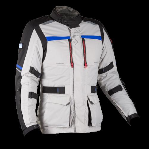 Adventure 4season jacket Grey-Blue-Red  |  NORDCAP
