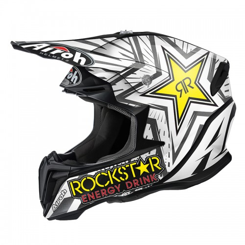 Airoh Twist Rockstar white-black matt