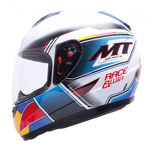 ΜΤ helmets Race & Win white-blue