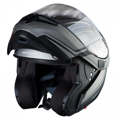 Κράνος MT Optimus SV Spdx One ματ μαύρο/ανθρακί