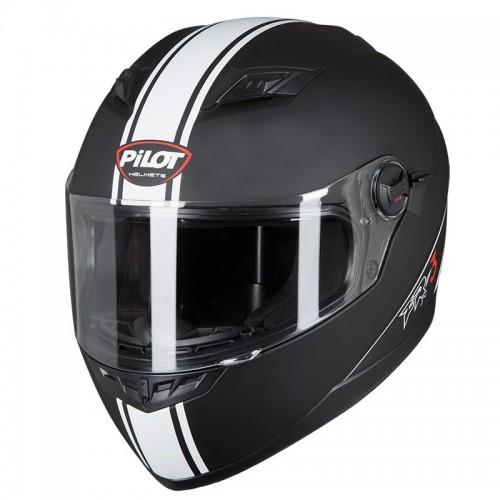 Κράνος Pilot FR3 SV Race μαύρο ματ-άσπρο