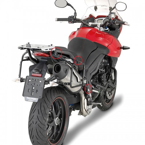 GIVI PLR6404 QUICK RELEASE PANNIER RACK FOR TRIUMPH TIGER SPORT 1050