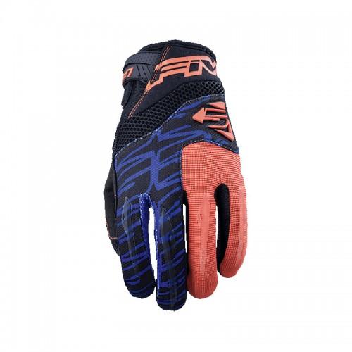 Γάντια Five MXF2 fluo πορτοκαλί-μπλέ