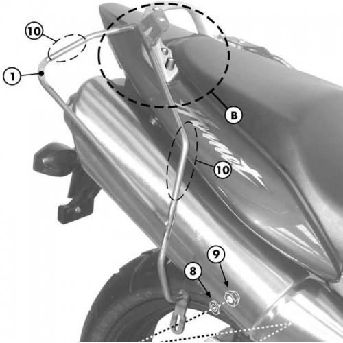 Βάσεις πλαϊνών σάκων T214_Hornet 600'98-06 Honda Givi