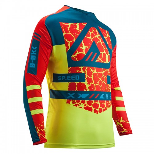 Μπλούζα Acerbis Mx Wildfire 22365.346 κόκκινο/fluo κίτρινο
