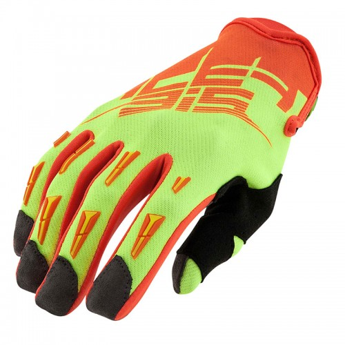 21631.271 ΜΧ 2X gloves fluo yellow/fluo orange Acerbis