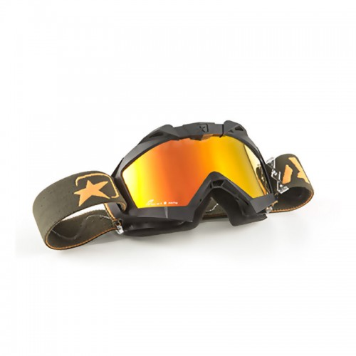Cod. 14001-PNOV  MX GOGGLES ADRENALINE - PRIMIS BLACK - RED MULTI-LAYER LENS