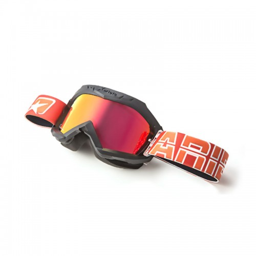 Cod. 12960-ANOR MX GOGGLES 07 LINE - AAA BLACK + RED MULTI-LAYER LENS
