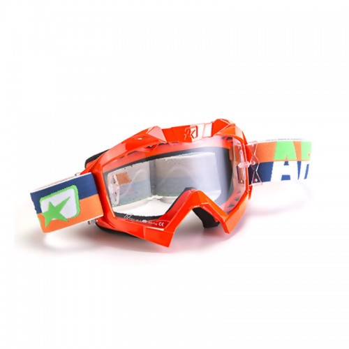 Cod. 14001-POAB MX GOGGLES ADRENALINE - PROFI ORANGE FLUO