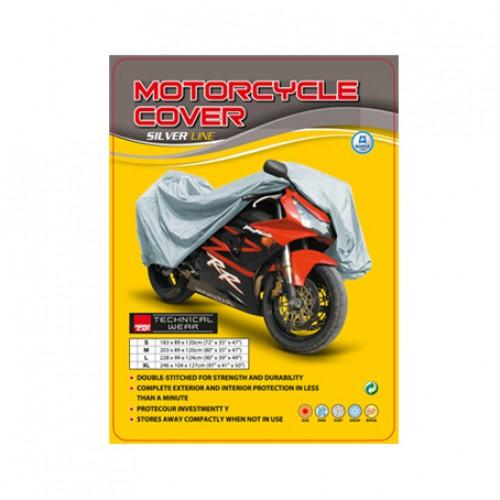 Nordcap moto cover XXL silver line