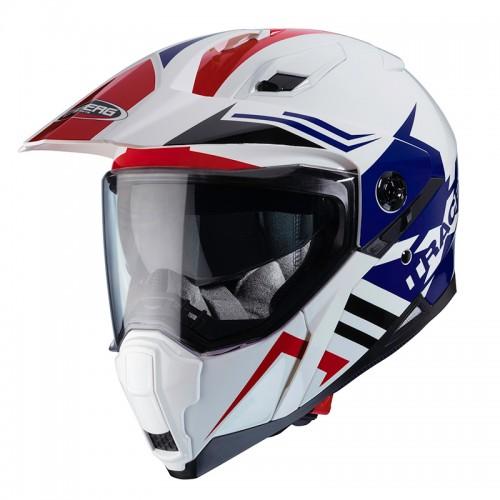 Κράνος Caberg Xtrace Lux άσπρο-μπλε-κόκκινο
