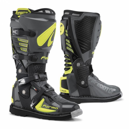 Off-Road Boots Forma Predator Charcoal grey - Yellow fluo
