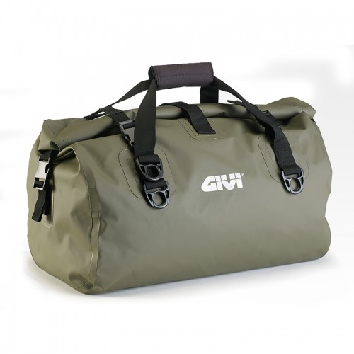 EA115KG Waterproof cylinder seat bag 40 ltr, kaki green colour, GIVI