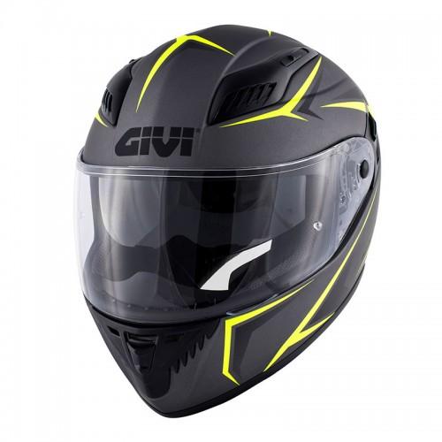 Κράνος Givi H40.5 Fiber_yellow/mat titanio