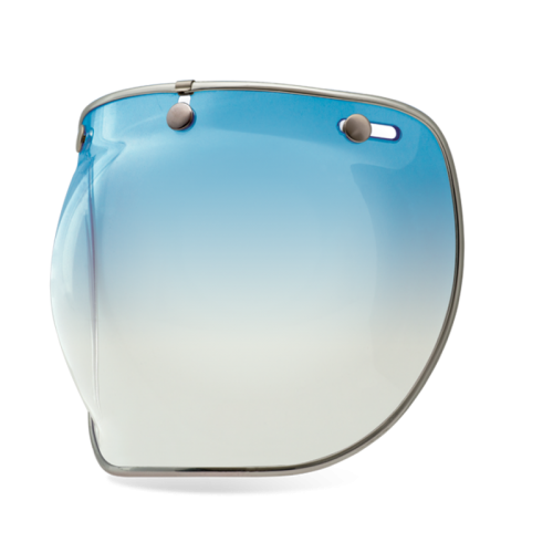 Bell Custom 500 3-SNAP BUBBLE DELUXE SHIELD - ice blue