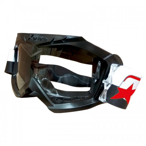 Μάσκα Ariete Aria 12960-C236 μαύρη με μαύρο-άσπρο-κόκκινο enduro
