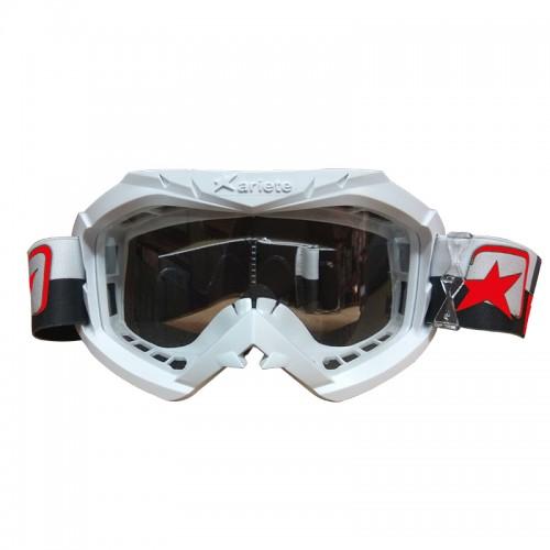 Μάσκα Ariete 12960-C237 Aria άσπρη με μαύρο-άσπρο-κόκκινο enduro