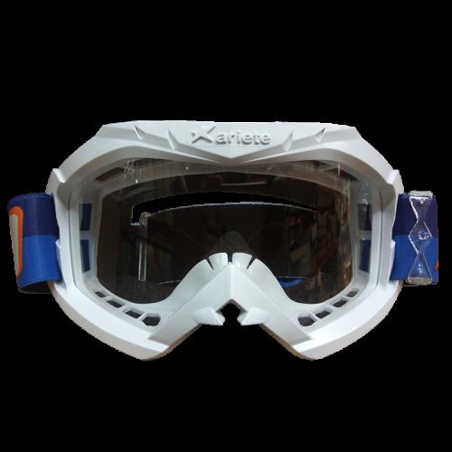 Μάσκα Ariete Aria 12960-C248 άσπρη με μπλε-πορτοκαλί enduro