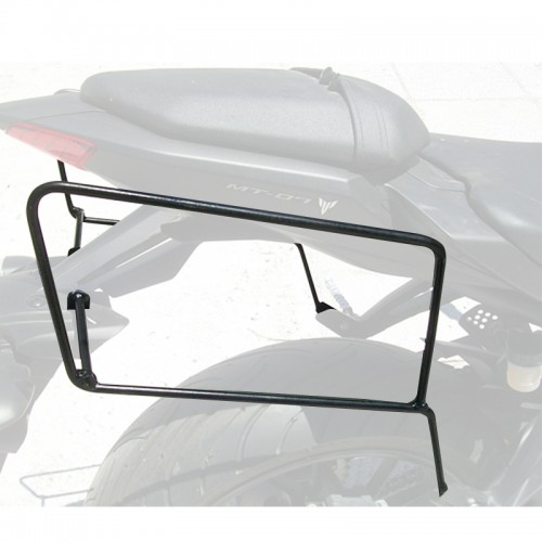 Specific holder for pair of side bags for MT07 YAMAHA