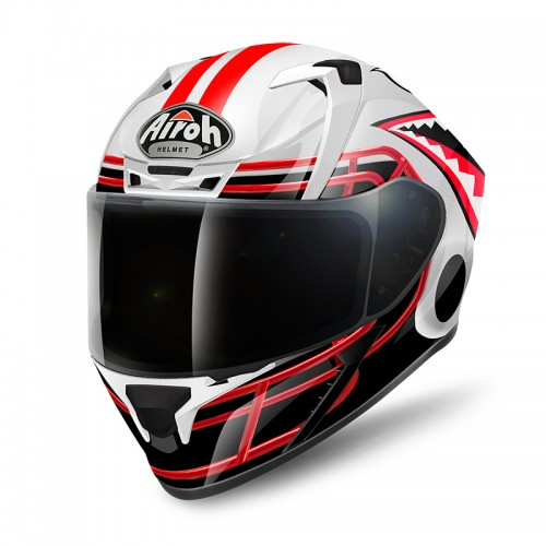 Airoh Valor Touchdown white-black-red gloss