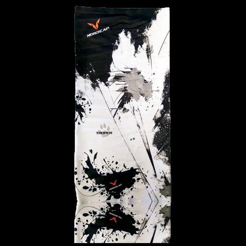 Φουλάρι-μπαντάνα Tube Nordcode_ Amnisia μαύρο-γκρί
