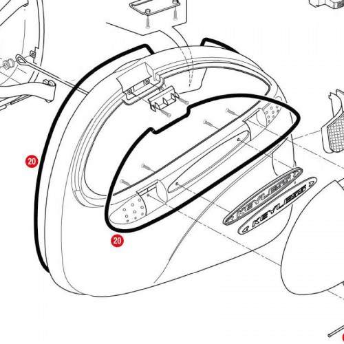 Givi Z726 Black lock lining For E41