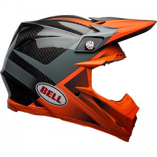 Κράνος Bell Moto-9 Flex Hound πορτοκαλί-ανθρακί