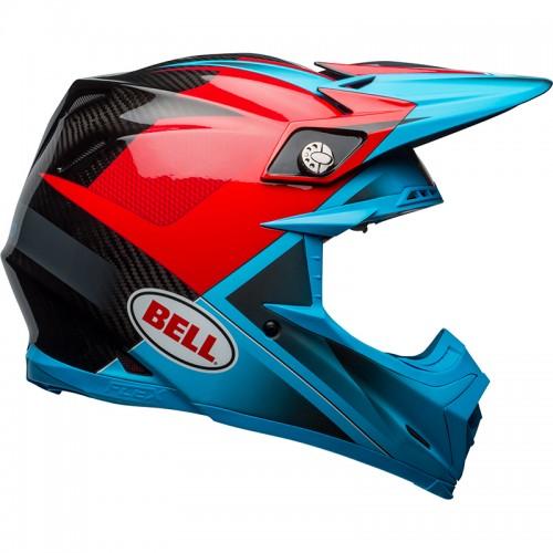 Κράνος Bell Moto-9 Flex Hound μπλέ-κόκκινο