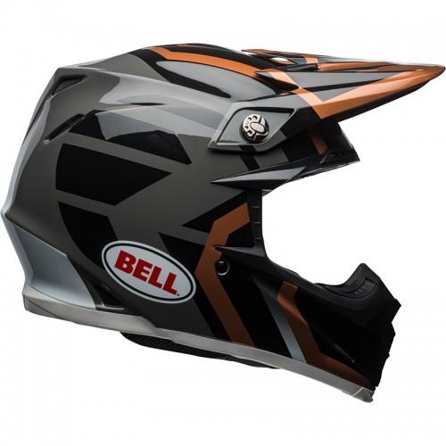 Κράνος Bell MOTO-9 Mips District μαύρο-ανθρακί
