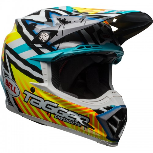 Bell MOTO-9 Mips Tagger yellow-blue-white