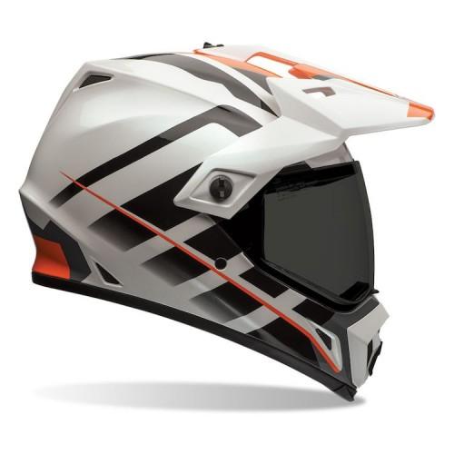 Κράνος Bell MX-9 Adventure Raid πορτοκαλί-άσπρο