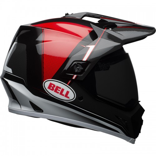 BELL MX-9 Adventure Mips gloss-black-red-white Berm