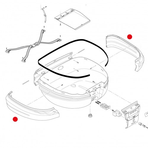 Givi Z693N902 Pair of side bands (for top case E55NT TECH)
