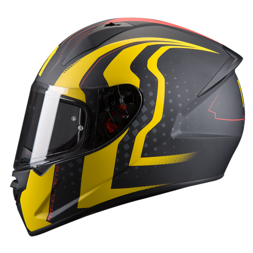 ΜΤ Stinger Warhead Helmet matt  black/yellow