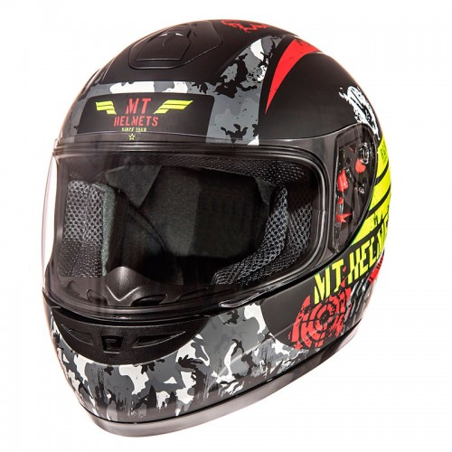 ΜΤ junior helmet Sniper junior helmet Matt Black/Fluo Yellow