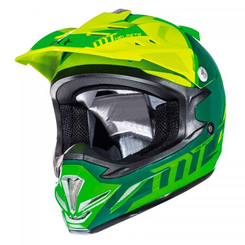 Κράνος MT MX-2 Spec junior fluo πράσινο-κίτρινο