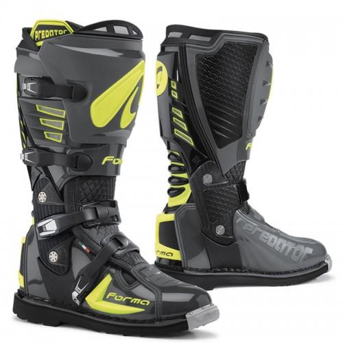 Μπότες Off-Road Forma Predator 17 ανθρακί- fluo κίτρινο