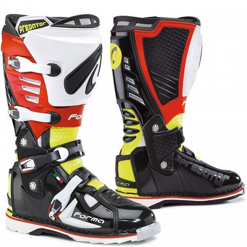 Μπότες Off-Road Forma Predator 17 μαύρο-fluo-κόκκινο