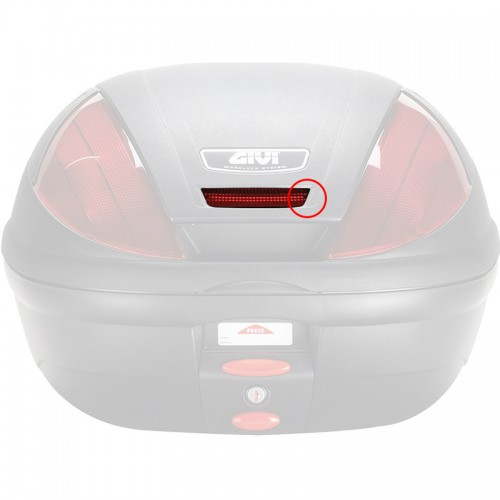 Top case red reflector Z750R_Ε370Ν givi