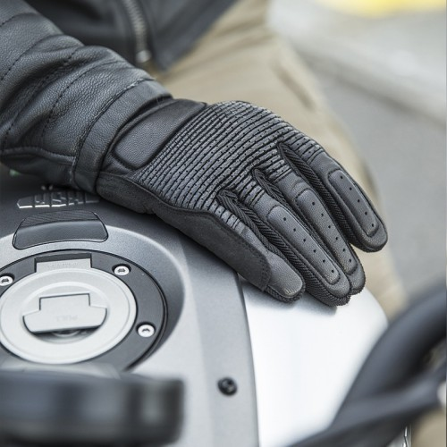 Spidi Garage Leather Gloves Black