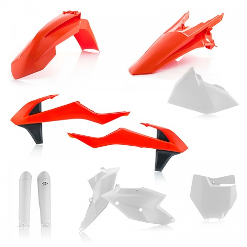 PLASTIC FULL KIT Acerbis _ 21741.553.018 _ KTM SX/SXF 18 original colours