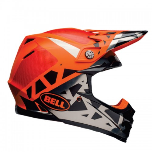 Bell Moto-9 Mips Tremor matt/gloss black/orange/chrome