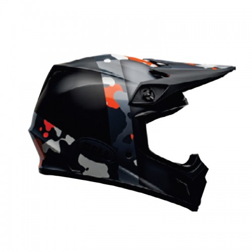 Bell MX-9 Mips Presence matt/gloss black/orange/camo