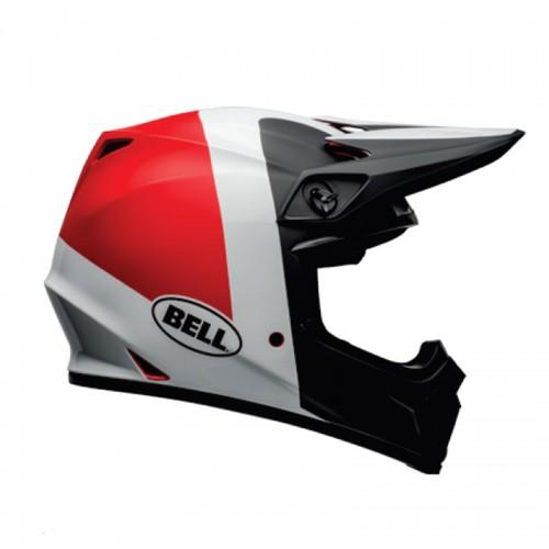 Κράνος Bell MX-9 Mips Presence matt/gloss μαύρο/άσπρο/κόκκινο