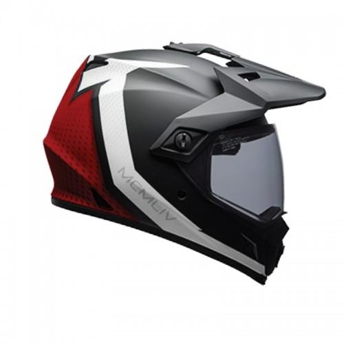 Κράνος Bell MX-9 Adventure Mips Switchback matt μαύρο/άσπρο/κόκκινο