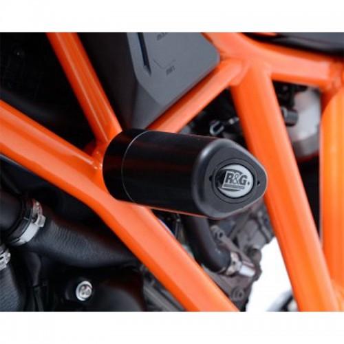 NO-CUT AERO FRAME SLIDERS R&G _ CP0298BK _ SUZ GSX1300R HAYABUSA 08' BLACK